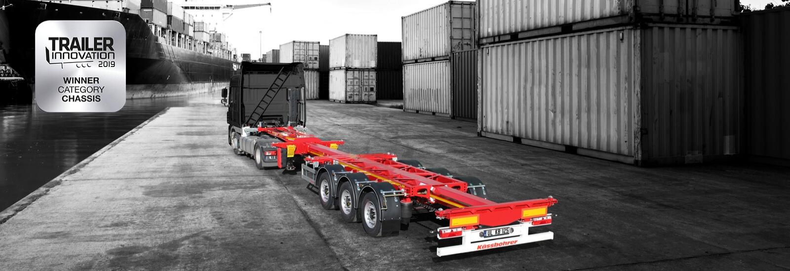 Kassbohrer K.SHG S / 40 - 12 / 27 RU неподвижное контейнерное шасси